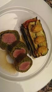 Lam 'Wellington' met groenten tian