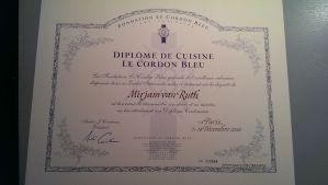 Diplome de Cuisine