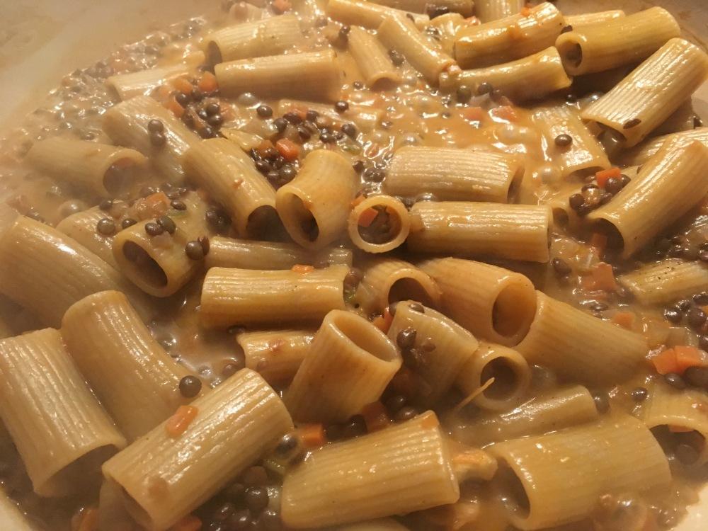 pasta met linzen